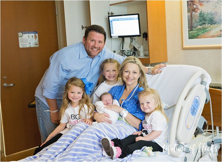Family of six photo at Tomball Regional Hospital