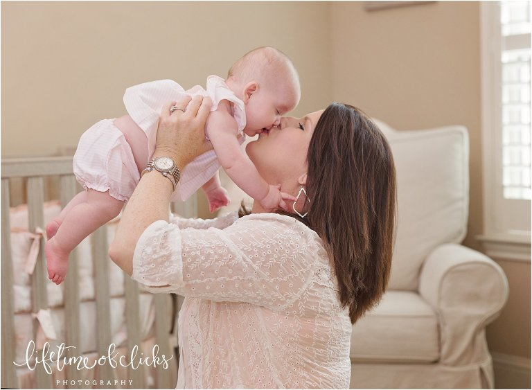 Authentic photo of mother and baby girl | Fulshear TX Family Photographer