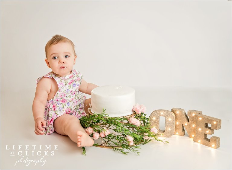 neutral and natural one year old portraits