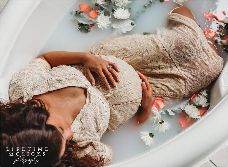 Milk Bath Maternity Photo Shoot Lifetime Of Clicks